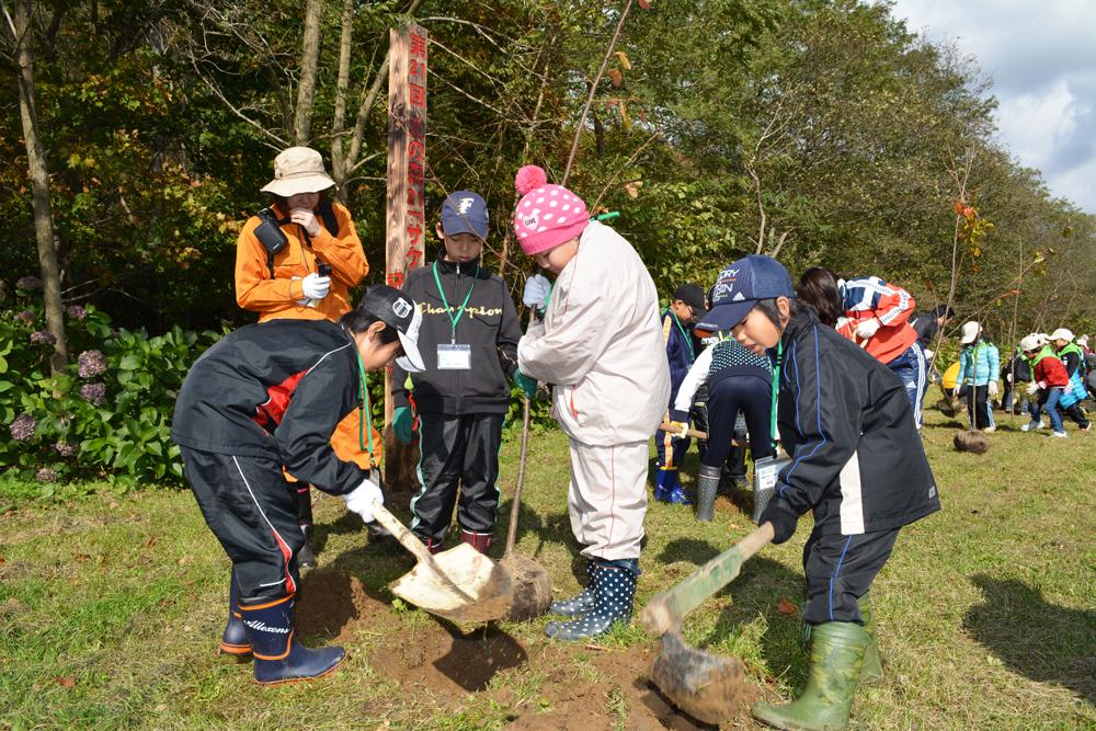 サケの上る森づくり記念植樹祭
