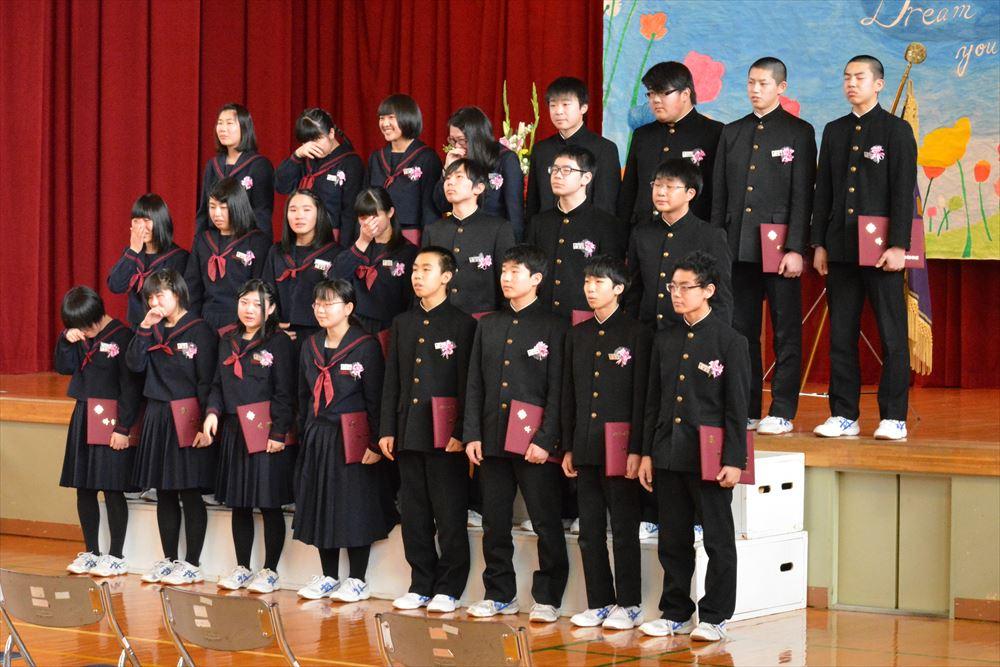 北檜山中学校卒業式02