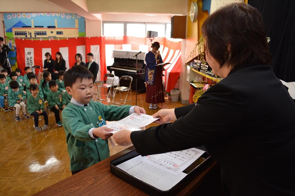 H29北檜山幼稚園卒園式01