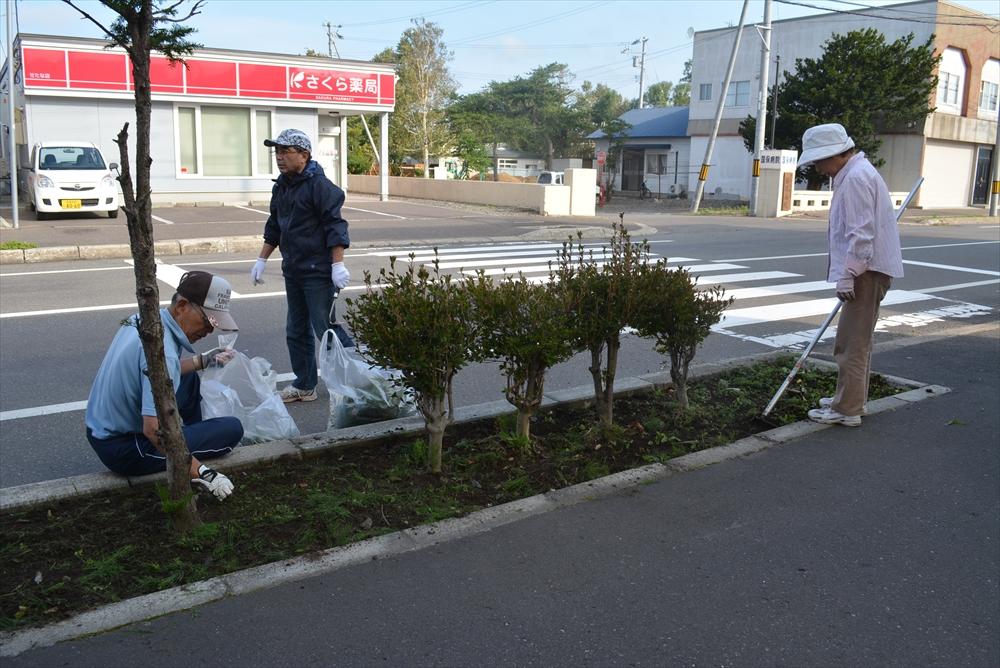 緑町町内会道路清掃3