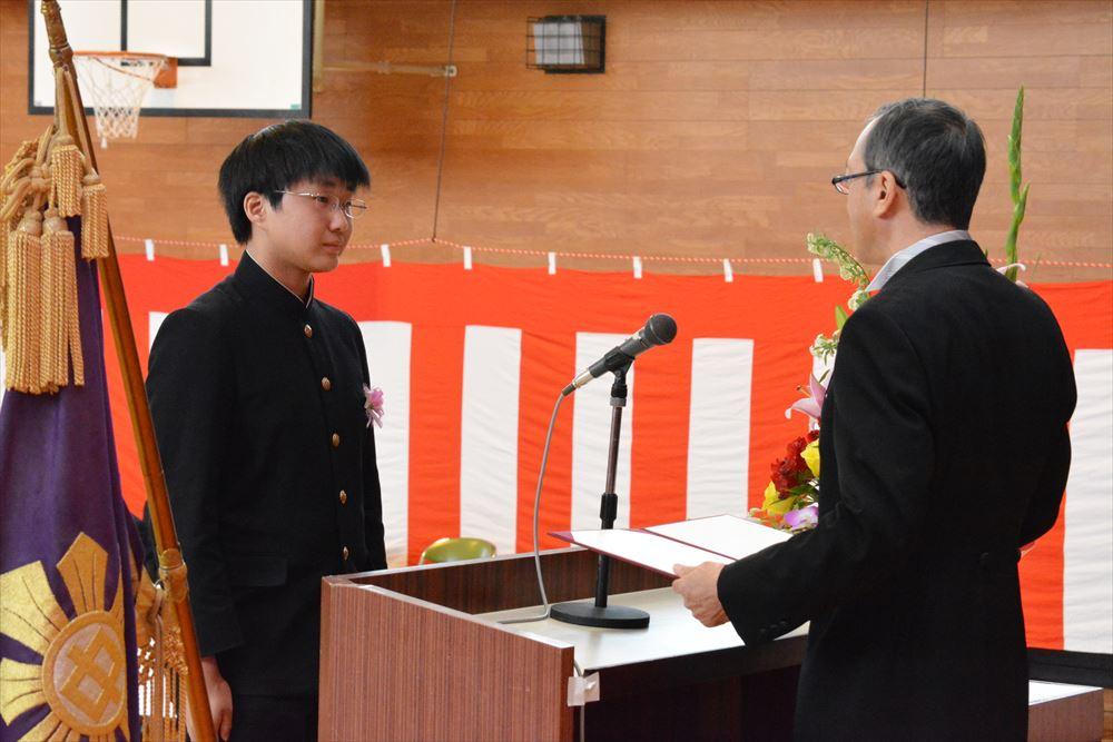 北檜山中学校卒業式01