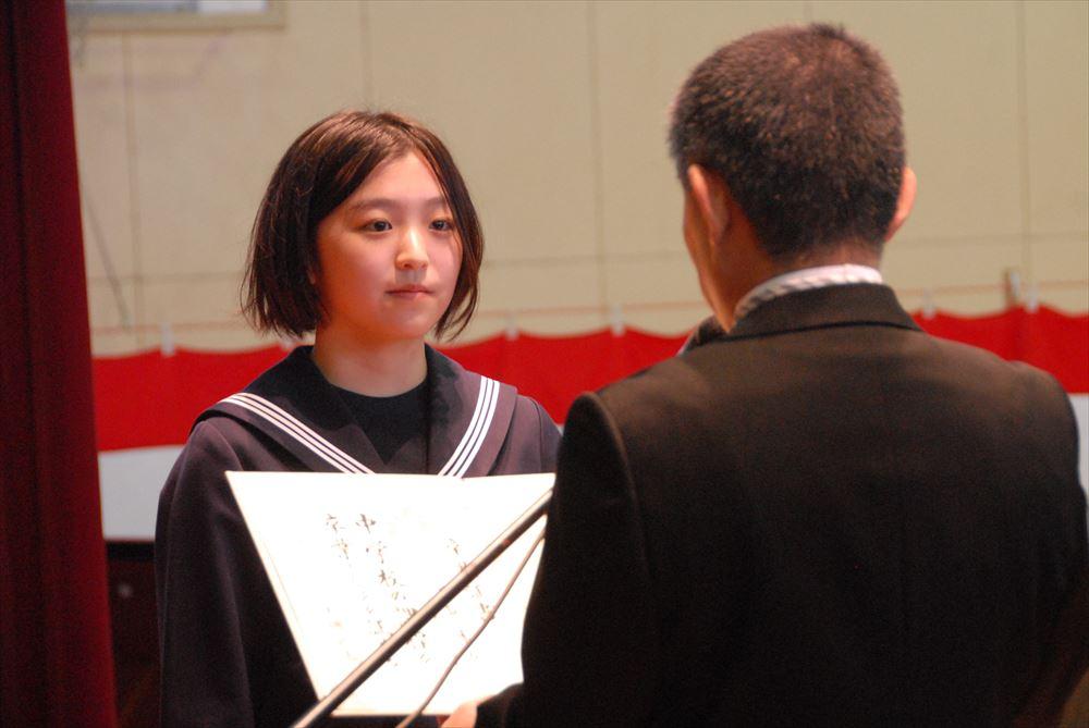 大成中学校卒業式01