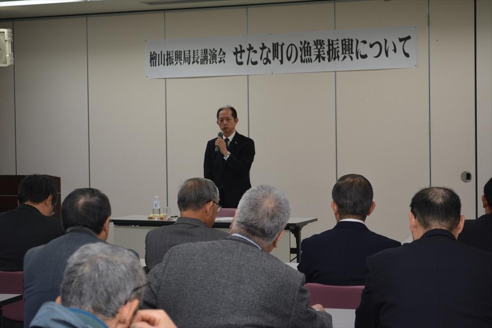 檜山振興局長漁業振興講演会